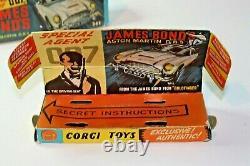 Corgi 261 James Bond Aston Martin, Très Bon État, Excellente Boîte Originale