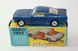 Corgi 320 Ford Mustang Hardback, Excellent État Dans Boîte D'origine