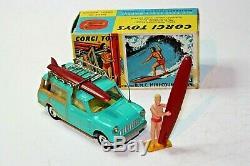 Corgi 485 Mini Countryman Avec Surfer, Excellent État Dans La Boîte D'origine