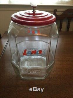 Country Store Vintage Lance Cracker Pot & Métal Lidexcellent Condition