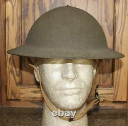 Début De La Seconde Guerre Mondiale Us Army 1917 Casque A-1 Excellent État