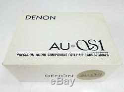 Denon Au-s1 Step-up Transformer Avec La Boîte D'origine En Excellent État De Jp