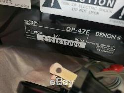 Denon Turntable Dp-47f. Condition Excellente! Avec Son Emballage D'origine