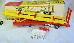 Dinky 974 Aec Hoyner Car Transporter, Excellent État Dans Boîte D'origine