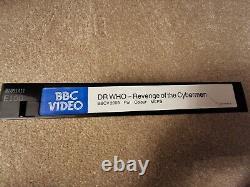 Doctor Who Revenge Of The Cybermen Vhs Original Pré-cert Excellent État