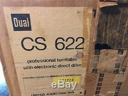 Dual Cs 622 Turntable Direct Drive Excellent État Avec Emballage D'origine
