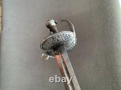 Épée Wallonne Antique, Tout Original, Lame Signée Sahagum, Excellent État