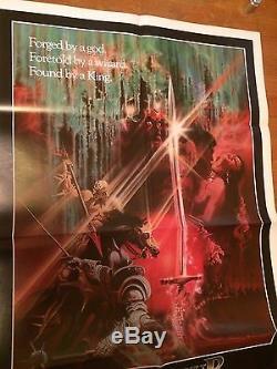 Excalibur 1981 Original Us Une Affiche Du Film Feuille En Excellent État