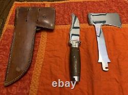 Excellent État Cas XX 1935 Brevet Poignée De Noyer Couteau / Hatchet Combinaison