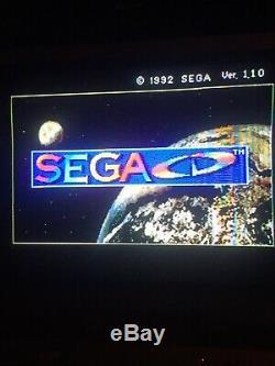 Excellent État Complet Modèle Original 1 Sega CD Chargeur Frontal Console