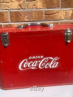Excellent Rare Vintage Coca-cola Airline Cooler Gasoil Soda Minty