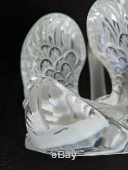 Fantastique Grand Lalique Head Up Swan Excellent État Aucun Chips Aucune Fissures