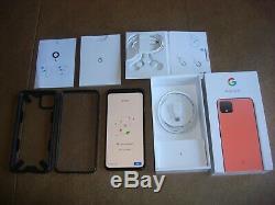 Google Pixel 4 XL 128gb Oh So Unlocked Orange Excellent État Et Boîte D'origine