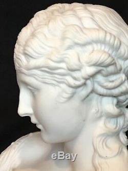 Grand 10 Antique Parian Bisque Clytie Bust Excellent État