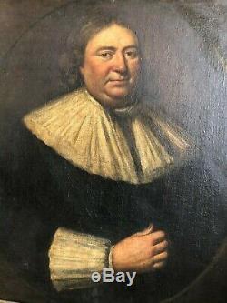 Grand Antique 17ème Siècle Master Vieux Portrait Peinture Excellent Etat