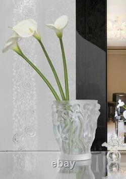 Grande Lalique French Cristal Bacchantes Nus Vase Excellent État 9.5 Tall