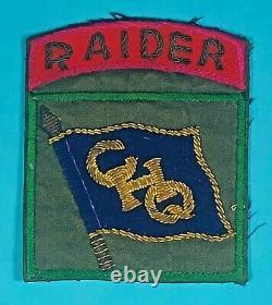 Guerre De Corée, 8245e Ghq Raider Insignia, 1 Pièce, Bullion, Excellent État