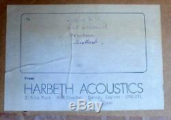 Harbeth ML Haut-parleurs Du Moniteur Les S / N 186 Excellent État, Avec Boîte D'origine