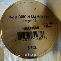 Hardy Origine Salmon Fly Rod 15' 5 Pièce #10 + Tube Etc Excellent + Condition