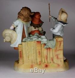 Heubach Hertwig Piano Victorienne Énorme Bébé Bisque Figurine Excellent État