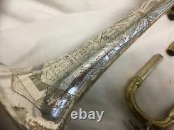Hn Blanc Ton Argent Trompette, Excellent État D'origine, Viabilisé, 159171