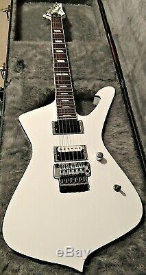 Ibanez Stm1 Sam Totman Blanc Iceman Guitare Withoriginal Box Excellent Etat