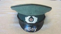 Ingénieur D'origine Allemande Seconde Guerre Mondiale Em / Sous-officier Pionier Visière Hat Excellent Etat