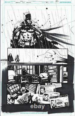 Jock Original Comic Art Batman Who Laughs Numéro 1 Page 21 Excellente Condition