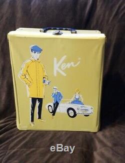 Ken Doll Vintage Excellent État Avec Case & Lots De Vêtements Et Accessoires
