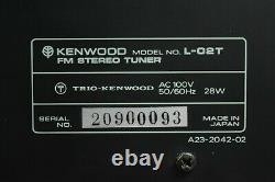 Kenwood L-02t Fm Stereo Tuner En Excellent État Avec Original Box