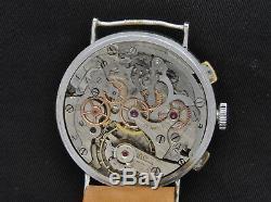 Lebois Originale 1935 36mm Pattes Fixe Chronographe Excellent État De Fonctionnement