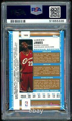 Lebron James 2003-04 Bowman Gold Rookie Card #123 Psa 5 Excellent État Rc