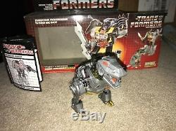 Les Transformateurs G1 Grimlock Dinobot Originale 1985 Vintage Excellente Condition Box