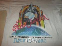 Live Aid 1985 Original Vintage Concert Shirtlargeexcellent Conditionrare