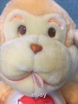 Ludique Heart Monkey Années 1980 Original Care Bear Cousin Rare- Excellent État