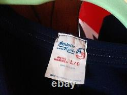 Macon Whoopee Hockey Taille Grand Maillot Bleu Original Excellent État