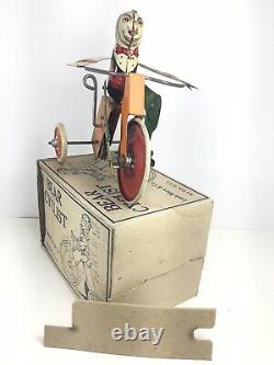 Marx, Bear Cyclist, 1934, Original Box Withinsert, Rare, Excellent Condition