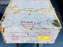 Mcintosh C-22 / Mc275 Pair-vintage Original Récemment Desservi Excellent État