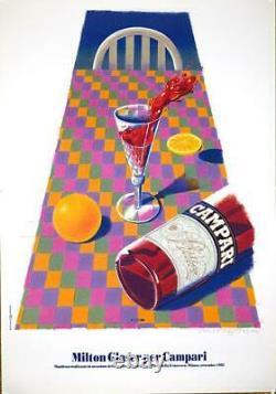 Milton Glaser Pour Campari 1992 En Excellent État Original