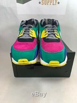 Nike Air Max 90 Viotech 2.0 Taille 12 Cd0917-300 Original Box Excellent État