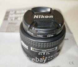 Nikon Af Nikkor 50mm F1.4 Lentille D Excellent État Original Boîte / Manuel
