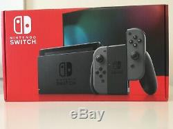 Nintendo Commutateur Gris Excellent État Emballage Original Utilisé