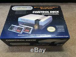 Nintendo Nes-001 Système De Commande Platine Cib Complet Excellent Etat D'origine