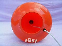 Orange Superbe De Verre Lampe De Table Rewired Gwo Excellente Condition 1970 15 Tall