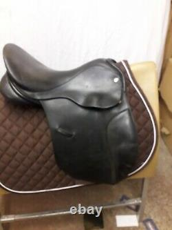 Origin Pony Saddle 16 Black G/p, Wide Fit, Excellent Used Condition, Uk Made