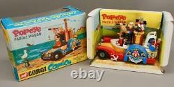 Original 1967 Corgi 802 Popeye Paddle Wagon Original Box Excellent État