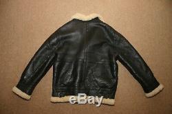 Original Jacket Vintage Shearling Sheepskin Flying M / Lg Excellent État