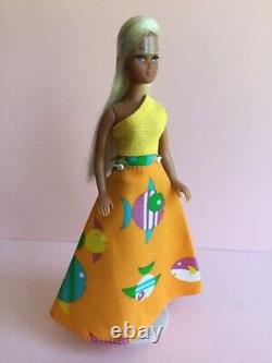 Palitoy Pippa Doll Htf Gail 49/2 Hairband & Outfit D'origine. Excellent État