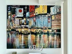 Paul Kenton Peinture Originale Red Light Front Line, Excellent État