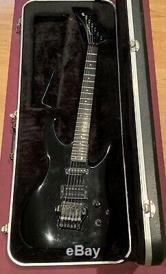 Peavey Vandenberg 1988 Noir Guitare Excellent État Avec Le Cas Original